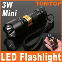 Wholesale 20pcs W Mini Aluminum LED Flashlight Waterproof Torch lamp for Camping Sporting home use H8435