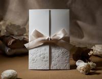 Wholesale Guaranteed100 exquisite wedding invitation card W1113 wedding favors