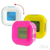 Wholesale Piece New Rotating Digital LED Functional Alarm Clock Timer With Thermomete Calendar Clock