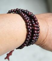 Beaded, Strands sandalwood beads - Tibetan Buddhism sandalwood prayer beads bracelet beads mm
