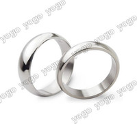 Wholesale 50 OFF PC High Polished Titanium Steel Comfort Fit Band Rings Fashion Lovers Rings SSR1201
