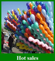 Wholesale Popular Spiral Latex Balloons Wedding Birthday Party Christmas Screw Balloon Kids toys