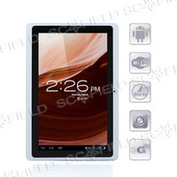 Wholesale 7 quot White Android Ultrathin Tablet Camera WIFI USB G Ebook Reader Youtube Game Flash Epad