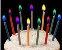 Wholesale Colored Candles safe Flames Party Birthday Cake brithday candle