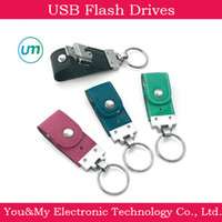 Wholesale USB drive stick Computer Key chain Leather Usb Flash Drive memory stick pen thumb drive GB