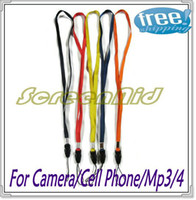 Wholesale US Seller Gift Neck Straps Lanyard For Digital Camera cell phone MP3 MP4 Black Free