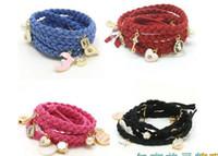 Women's beaded leather belts - Latest rope braided leather bracelet girl s women s jewelry steel bracelets bangles waistband belt