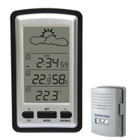 Wholesale Wireless LCD Weather Station Temperature Sensor M Clock