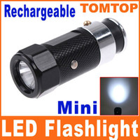 Wholesale LED Rechargable Car Cigarette Lighter Flashlight Torch aluminium alloy flash light modes H1386B