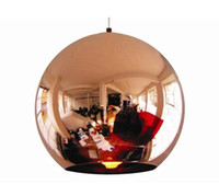 Wholesale Tom Dixon Pendant Lamp Copper Ball pendant Lamp Copper Shade Chandelier Dia cm modern lamp also Factory Outl