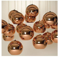 Wholesale Modern Artistic Tom Dixon Bronze Copper Shade Gold Silver Glass Pendant Light mordern pendant lamp Chandelier Living Room Light