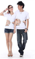 Wholesale 2012 T shirt Funny Cool Designed T shirts Lovers Couple Clothes Clothing White