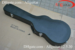 Black hard shell case for electirc guitar