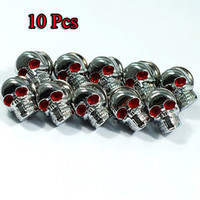 Wholesale X Chrome SKULL License Plate Frame Screw Screws Bolt