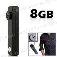Wholesale 8 GB Mini Spy Button Camera Pinhole Camera Hidden Spy Camera DVR SS103035