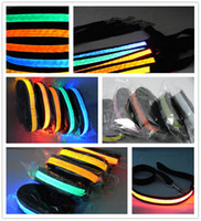 Wholesale Flash Dog Leashes Night flashing collar amp led Leashes Dog Drag belt