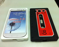 Wholesale Cassette Tape Silicone Case Back Cover Skin Retro Vintage Soft Case For SIII S3 i9300