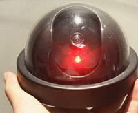 Wholesale Realistic looking Fake Dome security CCTV camera Flash Red LED Light Hot Sell