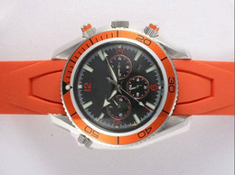 mens brand automatic watches online planet ocean sports watches orange rubber band mens luxury watches