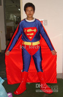 Wholesale Lycra superman zentai catsuit costume very hot sell