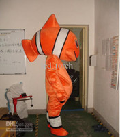 Unisex dress factory - Clown fish Mascot Costumes Cartoon Costumes Adult Size Halloween fancy dress factory