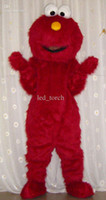 Wholesale Professional Cartoon New Hallowmas Sesame Street red ELMO Mascot costume adult size