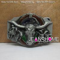 Wholesale Zinc alloy bull head belt buckle rodeo belt buckle MOQ