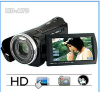 Wholesale HD A70 HD P digital video camera X zoom DV Digital Camera with inch touch color screen