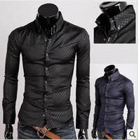 Wholesale Korean men fashion shirt casual fit Slim long sleeve M L XL XXL XXXL dress shirt