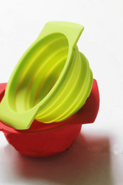 Wholesale fast shipping Silicone folding bowl Silicone bowl be chilled frozen microwave heating