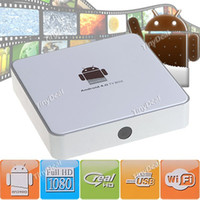 Wholesale Full HD GHz P G Android Internet TV Set top Box WiFi Wired with SD AV x USB RJ45 HD