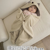 Wholesale Newborn blankets coated trolley warm sleeping bag years old baby to use