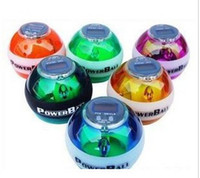 Wholesale Power Ball Gyroscope LED Wrist Strengthener Ball Speed Meter Counter Spin Ball
