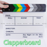 clapperboard China (Mainland) Acrylic/Wood Clapperboard Clapper Board TV Film Movie Slate Colorful 1pcs NEW
