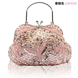2015 Free shipping Vintage heavy Beaded Evening Party Clutch Bag Beaded Wedding Bridal Handbag