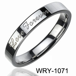 Fashion Tungsten Jewelry Rings Hot Sales 4mm Love Wedding Ring Hip Hop Jewelry