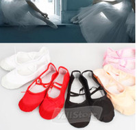 ballet pointe shoes - Child Adult Ballet Dance Shoes Ballet Pointe Shoes Split Sole slipper Fitness Gymnastics Canvas