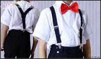 Wholesale Children Clip on Adjustable Pants Y back Suspender Braces Elastic Kids Black hot sell Belts Suspenders