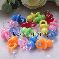 cupcake charm - Mini Acrylic Mixed Colors Baby Pacifier Baby Shower Favors Cute Charms cupcake decorating