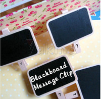 Wholesale Mini Message Blackboard Notice Note Board Photo Stand With Clip Convenient Home
