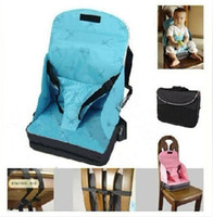 Wholesale 20 Baby Toddler Portable Fold Up Safety High Chair Booster Seat Blue Pink