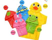 Wholesale New Lovely Cartoon animal style children raincoat poncho Children s Poncho