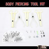 Wholesale Sterile Disposable Body Piercing Tools needle Belly Lip Tongue Ring jewelry F11081