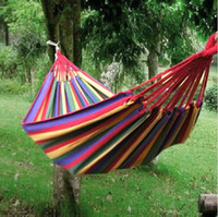 Wholesale New Canvas Nylon Hammock Hang Sleeping Bed Outdoor Camping Travelling