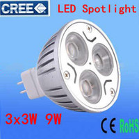 30X Hot selling MR16 3X3W 9W LED lamp light spotlight LED bu...