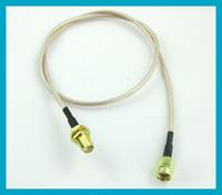Free shipping RG316 50cm RP SMA Male Plug to RP SMA Female J...