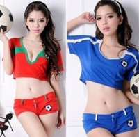 Clubwear baby football costumes - World Cup cheerleading clothes football baby singer suits Cute girls sportswear racing DS costumes