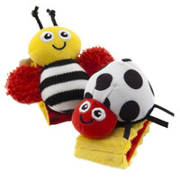 Wholesale Lamaze High Contrast Garden Bug Wrist Rattles Baby Girl Boy ladybug bee toys