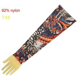 Wholesale 10x Pop Red Dragon Arm Tattoo Sleeves Tattoo Dress Sleeve Ideas Tattoo Kits Accessories T45