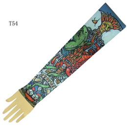 Wholesale 10x Fake Tattoo Supply Tattoo Arm Sleeves Tattoo Dress Sleeve Designs Tattoo Kits Accessory T54